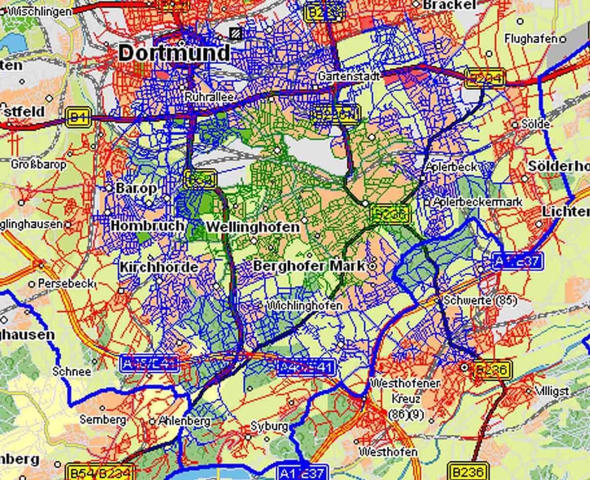 ORGAKOM - Standortplanung - Eintreffzeitsimulation